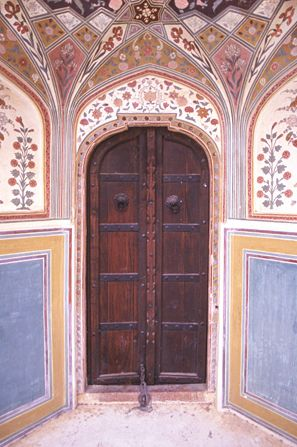 Door at Amber Fort, Jaipur, India