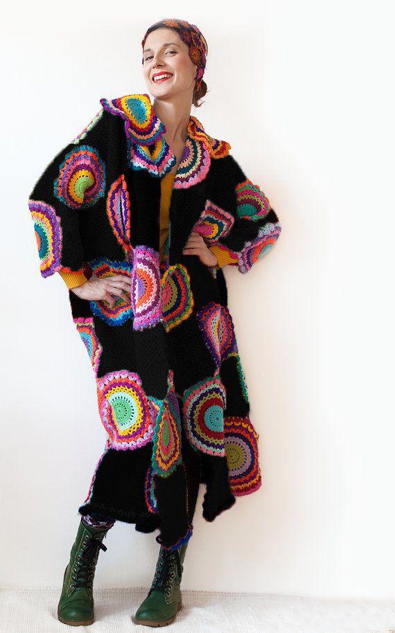 Plus Size Clothing Trendy Extra long Plus size Coat by subrosa123