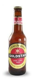 Cerveja Goldstar Dark Lager, estilo Dark American Lager, produzida por Tempo, Israel. 4.9% ABV de álcool.
