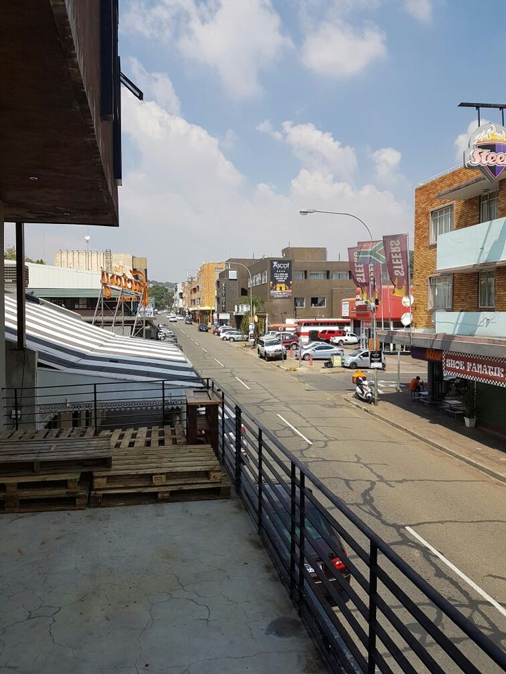 Grant street, Norwood , Johannesburg looking south from The Factory. 25 March 2017