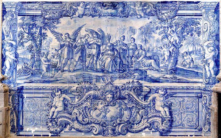 """Rio de Janeiro   Igreja de / Church of Nossa Senhora da Glória do Outeiro   """"Cântico dos cânticos"""" / Song of the songs #Azulejo #AzulEBranco #BlueAndWhite #Barroco #Baroque #Brasil #Brazil"""