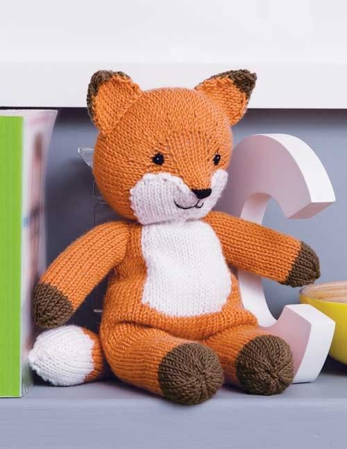 Woolly Fox Knitting Kit for 12 inch fox  and more fox knitting patterns