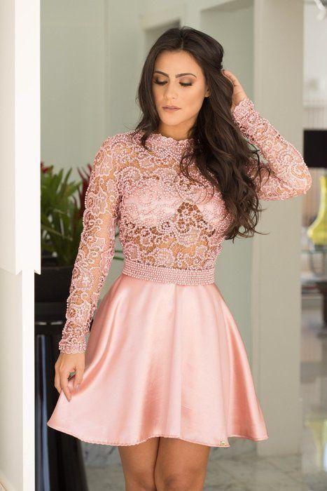 Vestido Rodado Bordado Rendinha Guipir | Vestido elegante, Vestido de formatura curto, Vestido de gripir curto