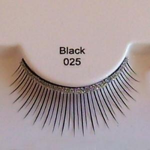 Ciglia finte EyeLusion nere 025.  Nella confezione: ciglia, colla, mini pinzetta