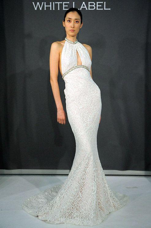 Starlet-style Kevan Hall wedding dress, 2012.