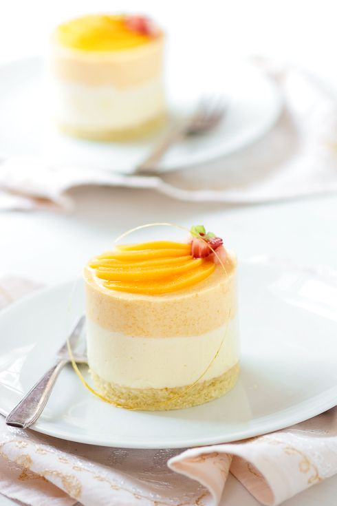 Peach Chamomille Mousse Cakes