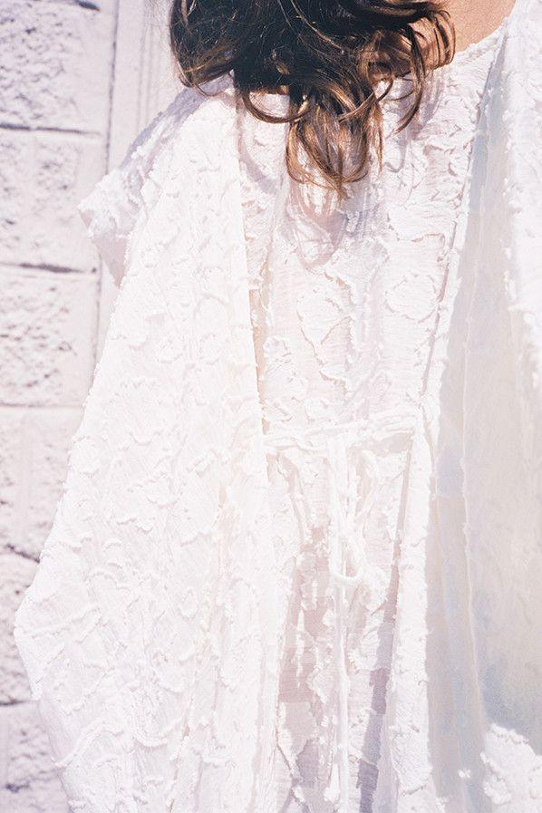SAUNA BOYS 3 DRESS, WHITE by Bernhard Willhelm