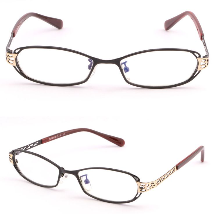 Full Rim Women Metal Frame Prescription Eyeglasses RX Sunglasses Red Arms Black #Unbranded