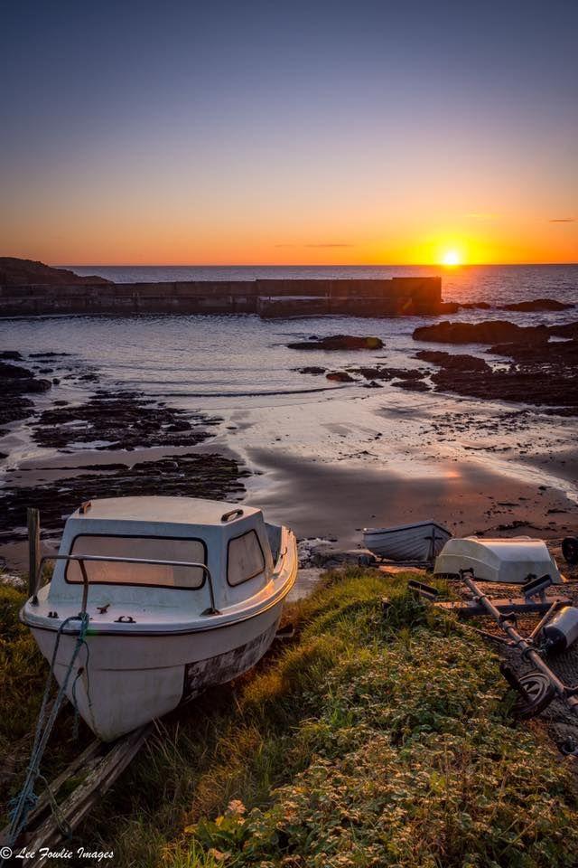 Fishing Boat at Sunrise, Collieston, Scotland