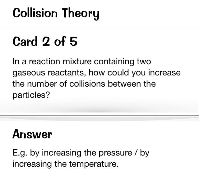 Collision Theory.