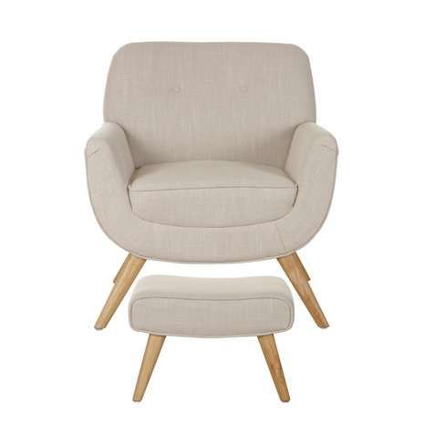 Skandi Natural Armchair and Footstool