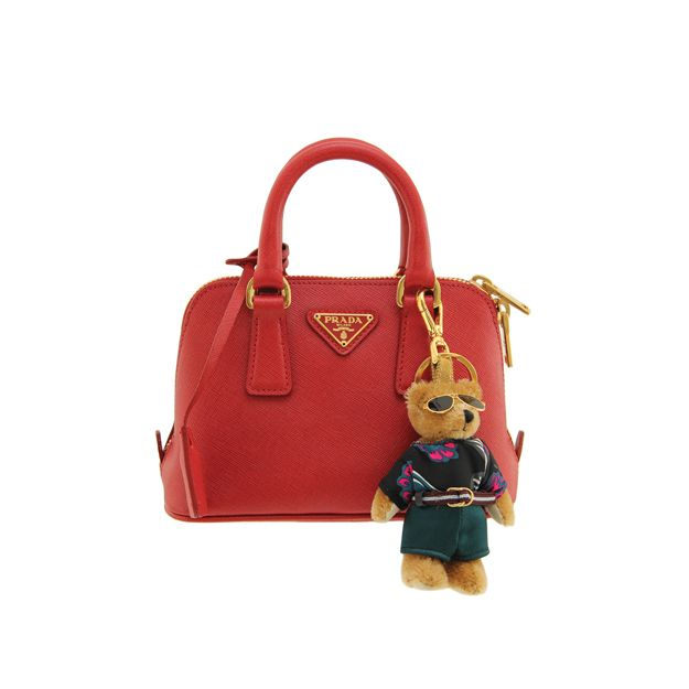 HAPPY CHINESE NEW YEAR! | PRADA - Red Saffiano leather mini bag ...