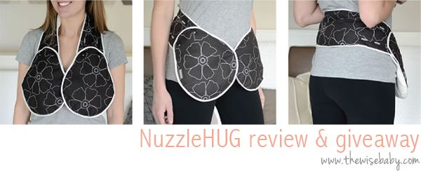One of the best products we have come across for breastfeeding relief - the NuzzleHUG! Here's review and #giveaway!
