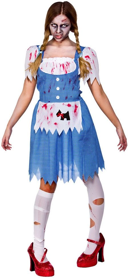 zombie dorothy fancy dress ladies fairytale horror womens costume outfit uk 6 24 ebay