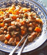 Gravox | Recipes: Braised Moroccan Chicken with Chickpeas