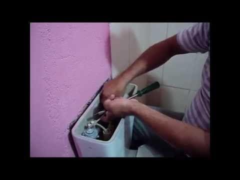 Saiba como trocar o mecanismo de descarga do vaso com a caixa acoplada - YouTube