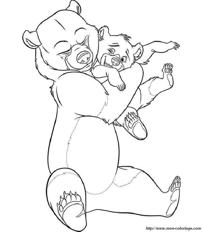 immagine colorare koda fratello orso
