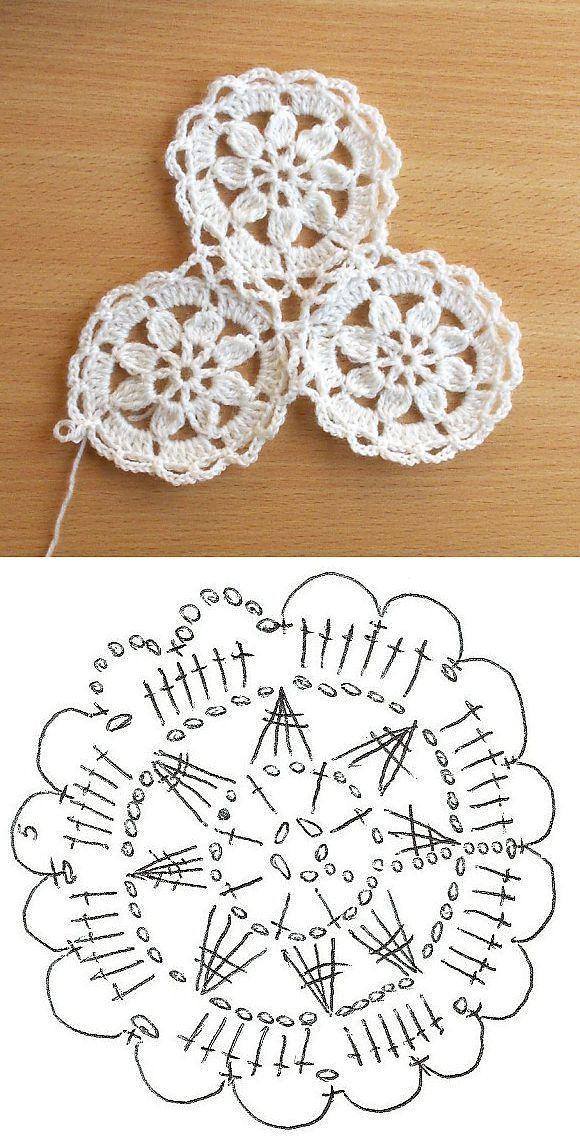 Безотрывное вязание крючком | Ganchillo | Ganchillo, Croché y ...