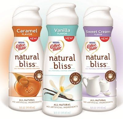 Coffee-Mate Natural Bliss Creamers so much easier on the stomach than the chemical-filled ones. Hazelnut and cinnamon too!