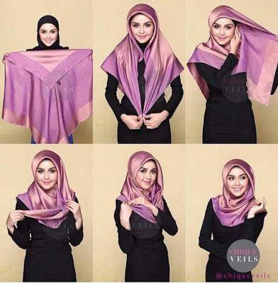 Tutorial Hijab Jilbab Terbaru panduan lengkap beserta gambar dan Video Muslimah cantik 2017.