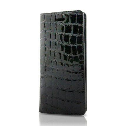 i-phone 6・6S用エナメルクロコ EC-6/ブラック