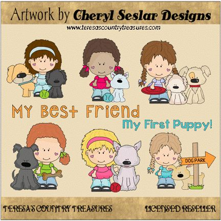 Little Lola and Pals My #BestFriend #Clipart