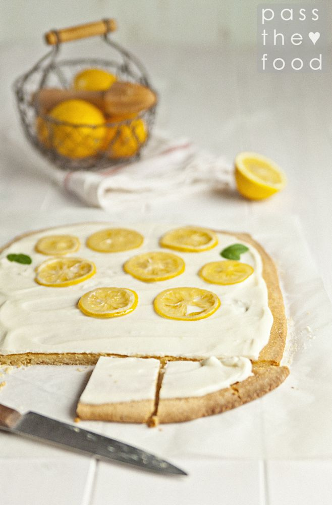 ... gluten free lemon shortbread ... http://pass-the-food.blogspot.com/2014/04/spadaj-poniedziaku-mazurek-bezglutenowy.html