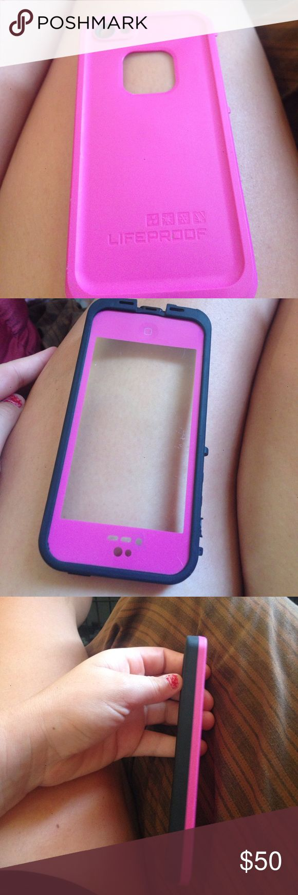 Life proof case for iPhone 5/5c Pink and black life proof case for a iPhone 5/5c LifeProof Other