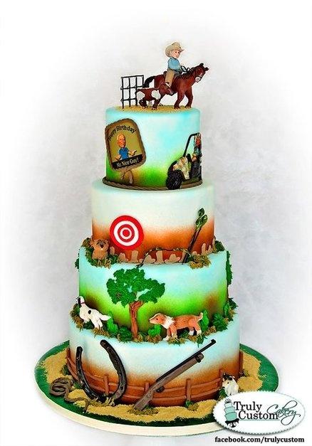 Dom Conicelli's 80th Birthday Cake  Cake by TrulyCustom