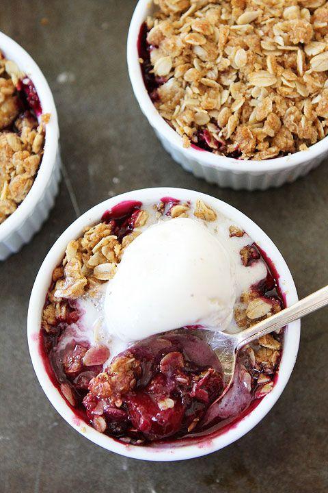 Rhubarb Berry Crisp Recipe