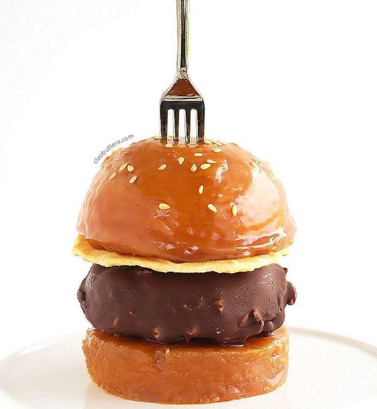 Un burger au caramel et à la glace