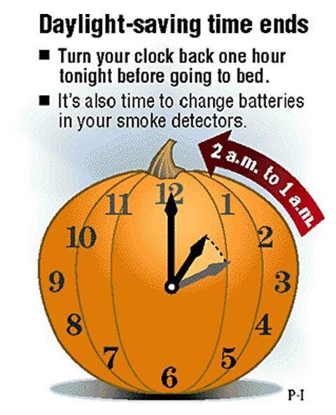 Day Light Savings Time Ends