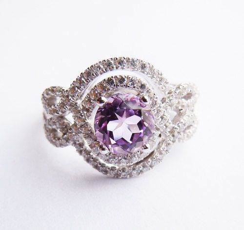 925Sterling Silver Crystal Engagement Ring All Sizes