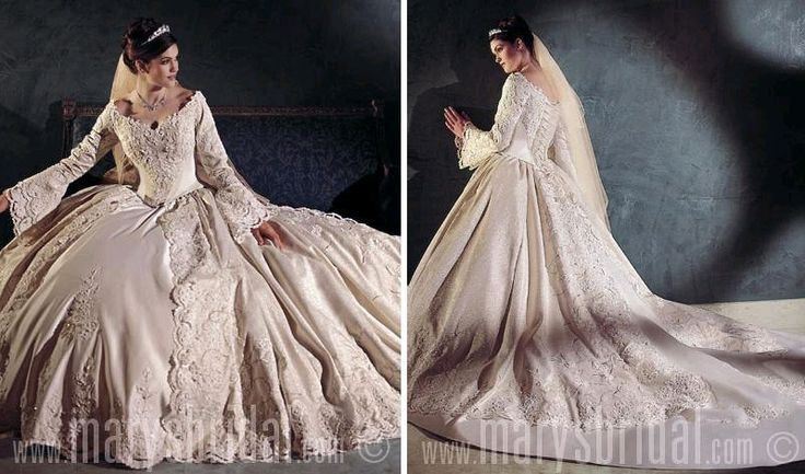 pc mary wedding dress