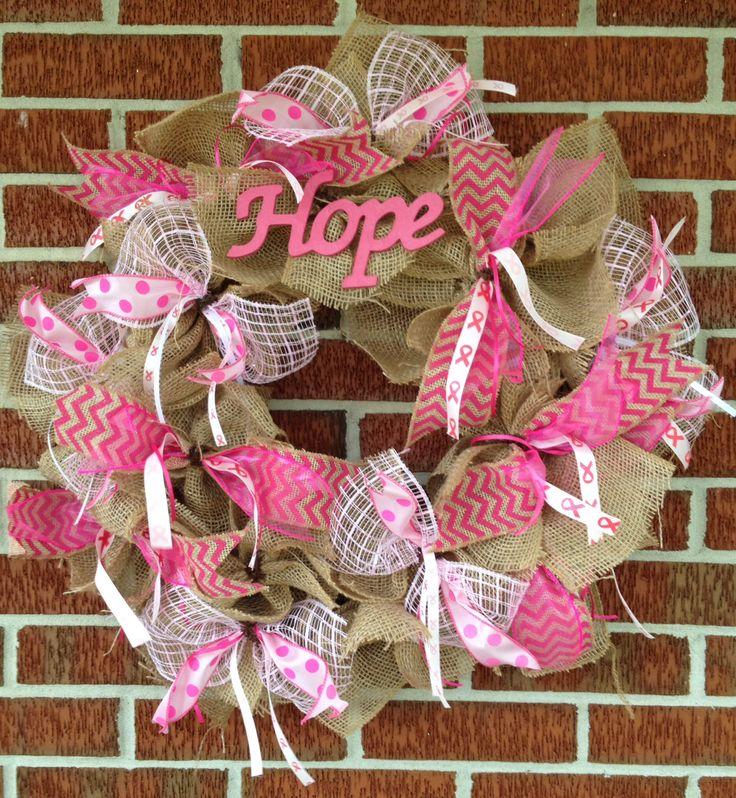 Breast cancer wreath I made