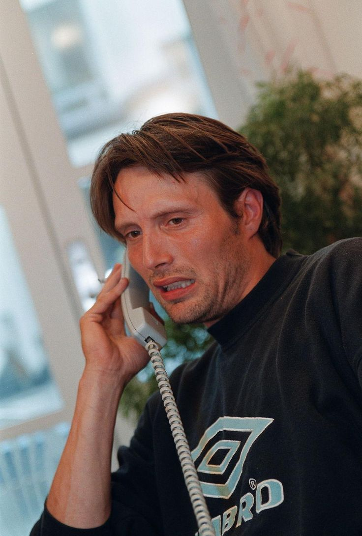Mads Mikkelsen - sorry can't talk, eating rude, bye