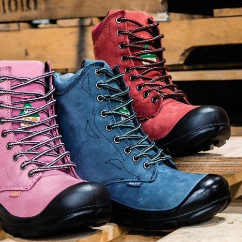 Steel toe work boots for women. CSA approved.