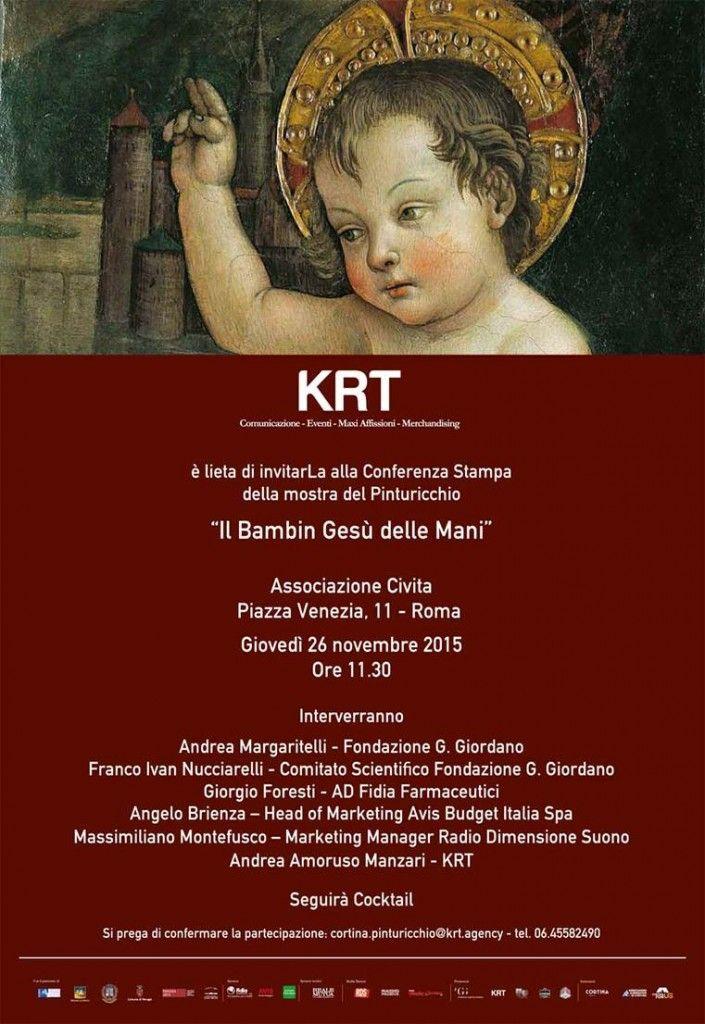 Dal 1 dicembre al 31 gennaio 2016 presso il Museo d'Arte Moderna Mario Rimoldi di Cortina d'Ampezzo: Il Bambin Gesù delle Mani del Pinturicchio