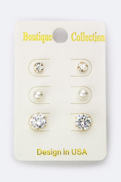Classic Set of 3 Earrings