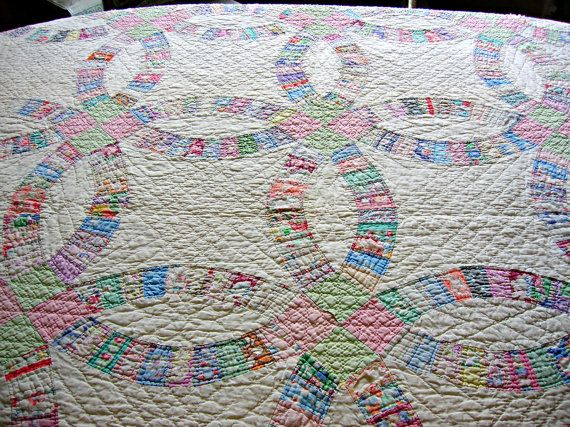 182 best Double wedding ring quilt images on Pinterest Double