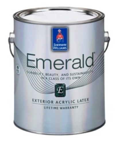 Beauty durability sustainability our newest top of the line emerald exterior paint sets an - Exterior intumescent paint set ...