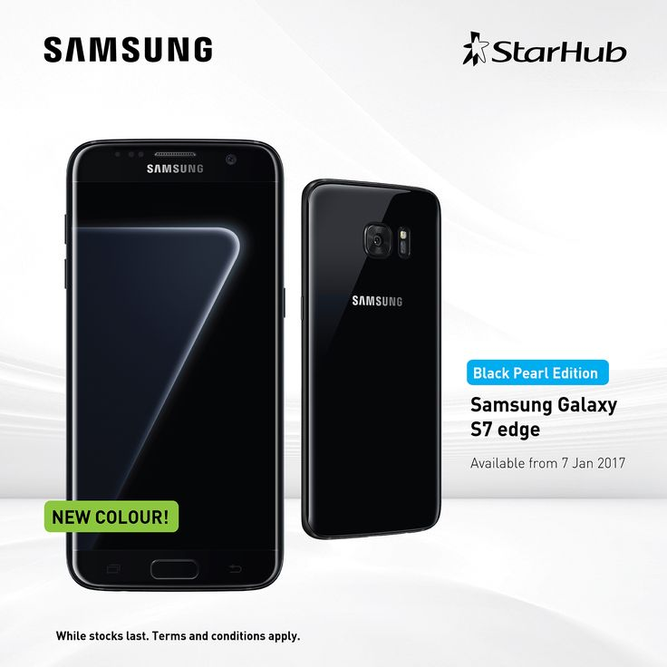 Samsung's Black Pearl Galaxy S7 edge will be launching in Singapore on 7 Jan 2017! The variant also sports a higher 128GB internal storage capacity compared to other S7 edge models released, with a much deeper monochrome black.   PM us on non-contract & contract enquiries! #StarHub #samsungmobileSG #Samsung