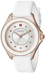 Happy mother's day! Buy the best gift for your lovely mother at the cheapest price ever! MICHELE Women's MWW27A000004 CAPE Stainless Steel Watch with White Band