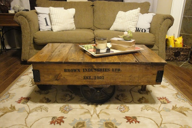 """old"" coffee table"