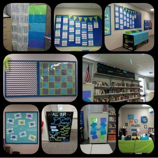 High school english classroom decorating ideas