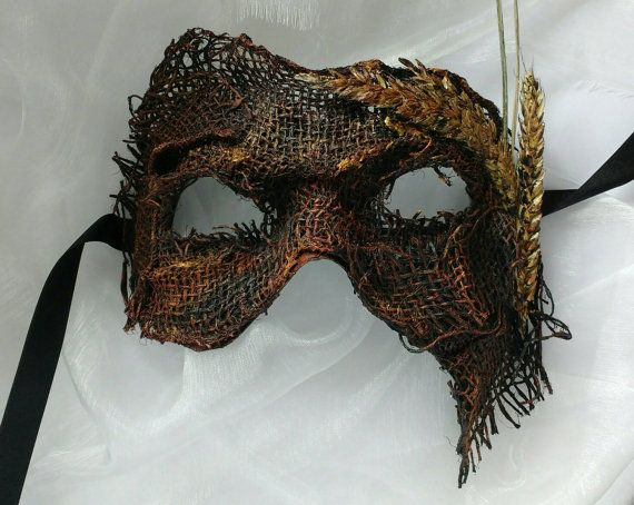 Halloween mask creepy #scarecrow #mask #burlap Scarecrow by MasksbyDebbsElliman
