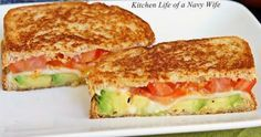 tomato avocado mozzarella grilled cheese easy recipe