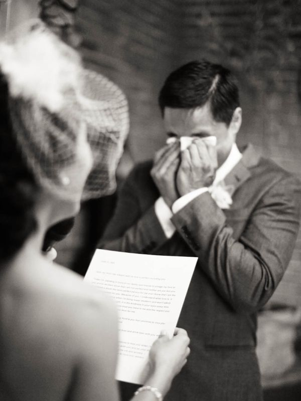 Groom's ceremony tears. | photography by http://jenhuangphoto.com/