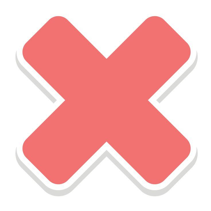 バツマーク Cross mark