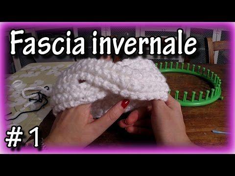Fascia invernale per capelli con telaio circolare - YouTube